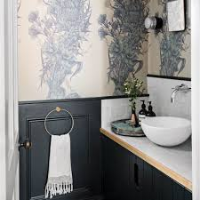 wallpaper ideas for small bathroom collection blakeney bathroom cloakroom ideas feature