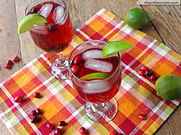 cranberry lime spritzer non alcoholic no sugar added