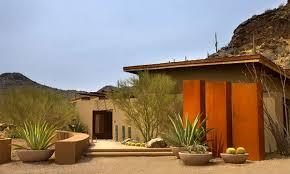 Front Yard Desert Landscape Mediterranean Exterior 17 Parched Desert Landscaping Ideas Home Design Lover