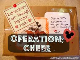 cheer up care package chatting chocolate operation cheer extraordinary care