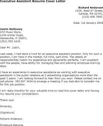 cover letter sample for executive assistant position 10997