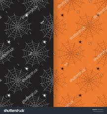 orange black halloween background vector seamless halloween patterns set spider stock vector