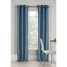 Duck River Window Curtains Duck River Semi Opaque Bali 84 In L Faux Silk Panel In Peacock