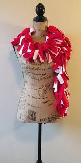 game day scarf red and white u2013 daylily occasions