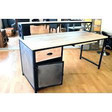 bureau industriel pas cher bureau industriel bureau industriel bois et metal design de maison