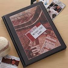 photo album personalized personalized sports ticket stub scrapbook album