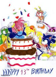 fresh royalty free 13 year happy birthday card with cake