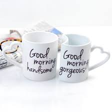 his hers mugs his hers morning coffee mug set