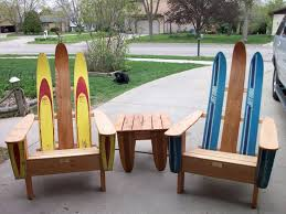 Outdoor Chairs Vintage Wood Water Skis Made Into Outdoor Chairs With Matching