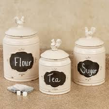 glass canister sets for kitchen hilarious three silver rooster decorative glass canister set then