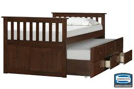 Captain Bed With Storage Mission Hills Captain Bed With Storage Trundle