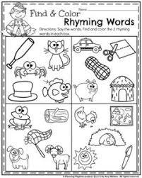 summer kindergarten worksheets kindergarten worksheets rhyming