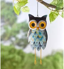 owls owl themed home garden decor wind weather