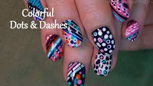 stripes and dot nails fun and crazy nail design video dailymotion