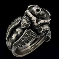 custom silver jewelry skull biker rings gold and silver custom jewelry
