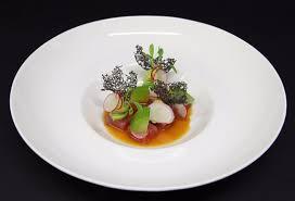 navet cuisine marinated tuna ponzu navet apple wasabi sorbet picture of