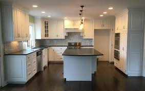 Finished Kitchen Cabinets Painting Kitchen Cabinets White Monk U0027s Home Improvements