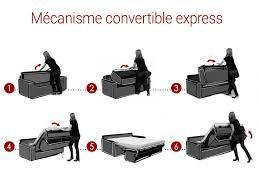 mécanisme canapé convertible canapé 3 places convertible express tissu 8 coloris calife