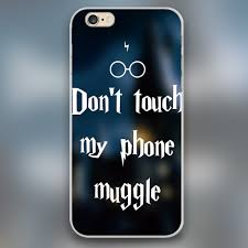 harry potter don u0027t touch my phone muggle design case iphone