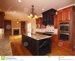 luxury home extended kitchen with fireplace royalty free stock