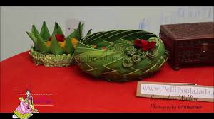 wedding trays trailer coconut leaf wedding trays