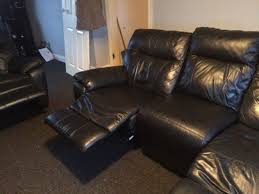 2 Seater Recliner Leather Sofa Leather Manual Reclining Sofas On Gumtree Selling One 3 Seater