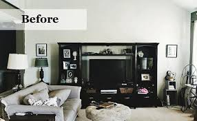 livingroom makeovers before after industrial living room makeover wayfair