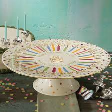 singing birthday cake plate