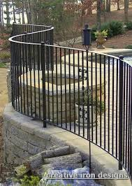 Curved Handrail Creative Iron Designs