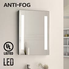 fogless led lighted makeup mirror ul listed wall mounted vanity