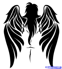 how to draw a tribal angel tribal angel step by step tribal art