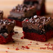 red velvet oreo truffle brownie bars recipe ziplist treats