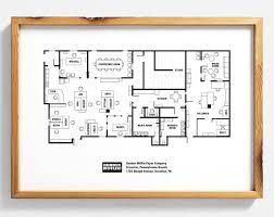 dunder mifflin floor plan the office floor plan the office tv show the office poster