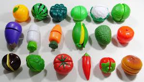learn names of fruits and vegetables with toy velcro cutting