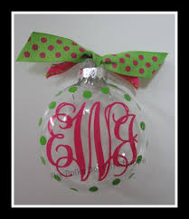 monogrammed christmas monogrammed ornaments for christmas