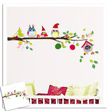 christmas tree wall mural christmas lights decoration 2016 new fashion wall stickertree owl removable vinyl wall decor for baby kids rooms decal mural