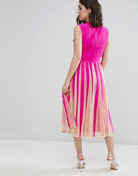 asos petite asos petite mesh fit and flare square plunge midi dress