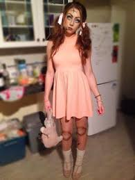 Scary Baby Doll Halloween Costume Ladies Broken Zombie Baby Doll Halloween Fancy Dress Costume