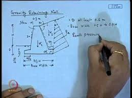 Mod Lec Design Of Retaining Wall YouTube - Retaining wall engineering design