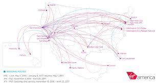 American Route Map by Virgin America First Class Point Hacks Overview