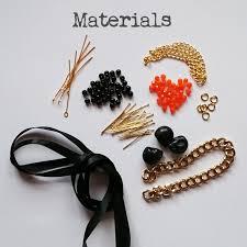 diy spooky skull halloween necklace golden age beads