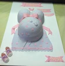 pregnant belly baby shower cake w footprint and gumpaste baby
