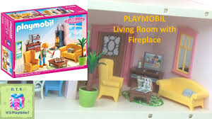 playmobil 5308 living room with fireplace little story toy