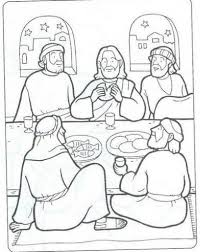 last supper coloring page with regard to really encourage to color
