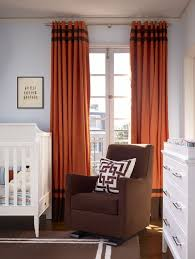 Orange And White Curtains Orange And Brown Curtains Contemporary Nursery Artistic