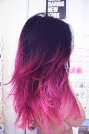 dye bottom hair tips still in style entire bottom half faded to pink definitely trying this next