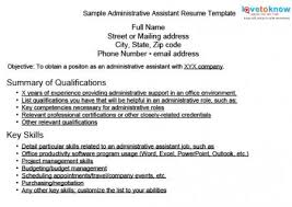 Sample Of Key Skills In Resume by Sample Resumes For Administrative Assistants