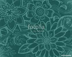 wedding backdrop graphic floral pattern in teal green abstract flowers