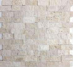 Split Face Stone Backsplash by Ivory Travertine Split Face Mosaic From Sefa Stone Perfect For