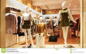 fashion shop window clothing store front stock photo image 65425915